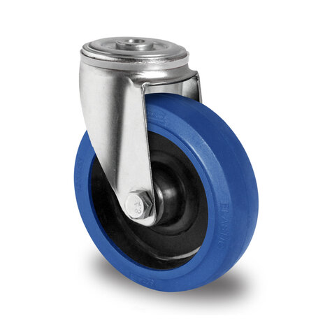 swivel castor with bolt hole, ø 125 mm
