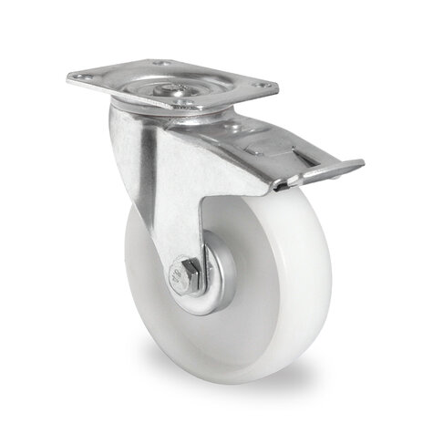 swivel castor, ø 160 mm with total brake