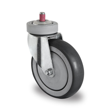 swivel castor with bolt hole, ø 125 mm (screw and ball...