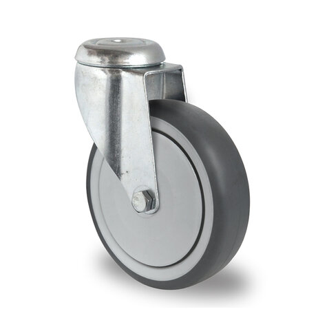 swivel castor with bolt hole, ø 150 mm