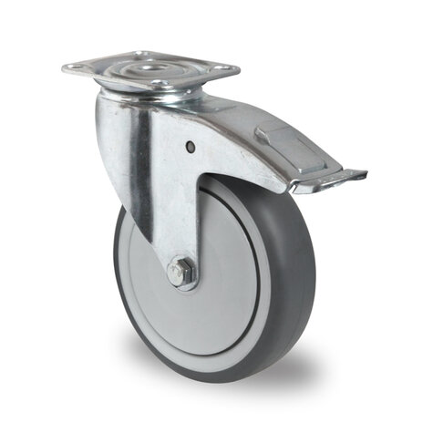 swivel castor, ø 150 mm with total brake