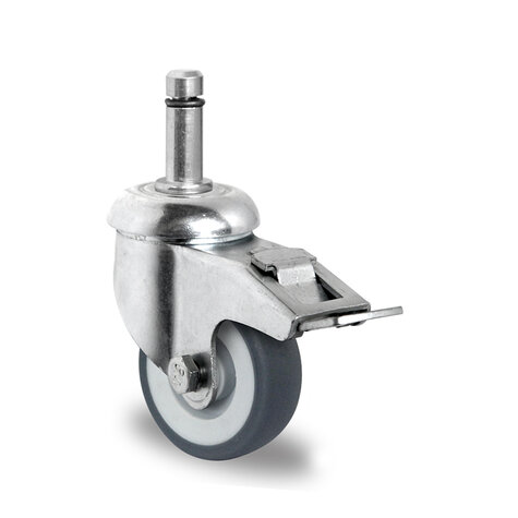 swivel castor with bolt hole and total brake, ø 50 mm