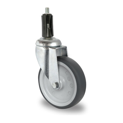 swivel castor with bolt hole, ø 100 mm