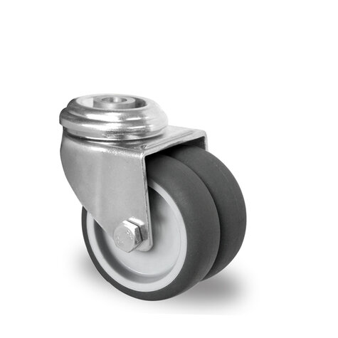 swivel castor with bolt hole, ø 50 mm