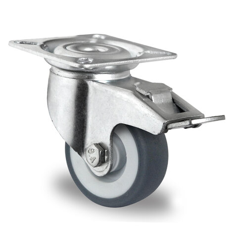 swivel castor, ø 50 mm with total brake