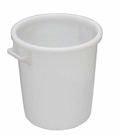 plastic bucket white HDPE 50 litres