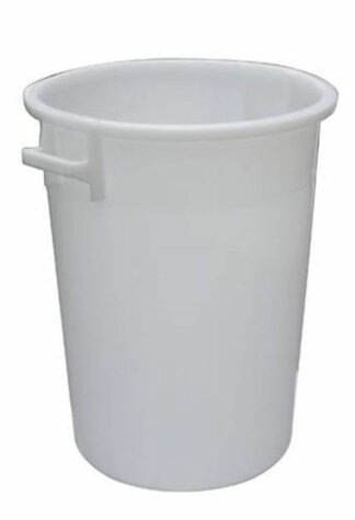 plastic bucket HDPE white 150 litres