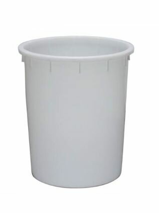 plastic bucket HDPE white 200 litres - without handles-