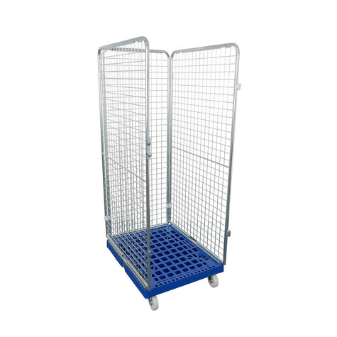 rollcage with plastic base, 682 x 815 mm, type 3-sided
