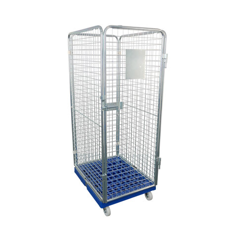 rollcage with plastic base, 682 x 815 mm, type 4-sided