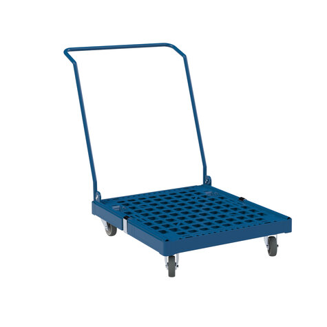 Plastic pallet with handle, dark blue RAL 5010 TPE