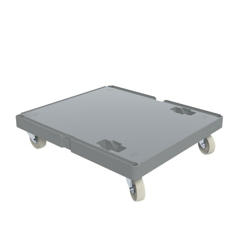 Plastic base with closed loading platform, 724 x 815 mm,...